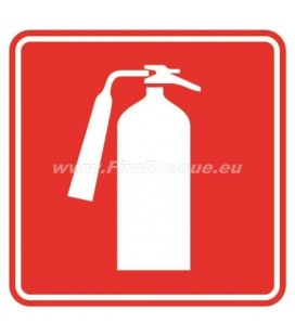 LABEL FIRE EXTINGUISHER 150 X 150 MM